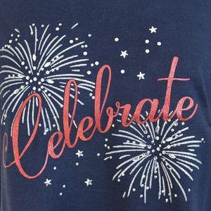 Karen Scott Tops - Celebrate Fireworks Print Graphic Top